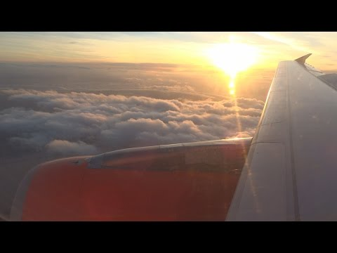 STUNNING SUNSET! easyJet Airbus A319-111 | Amsterdam to Liverpool | U27010 | Trip Report
