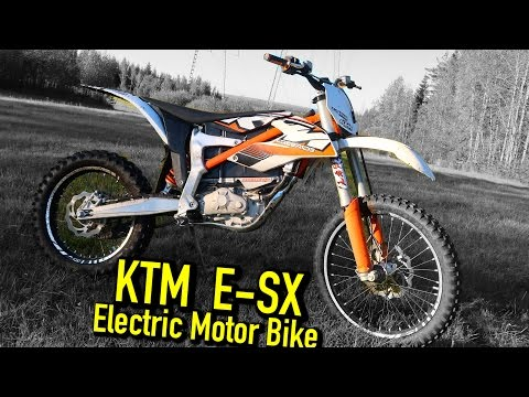 KTM SX-E Freeride electric motorbike Test ride