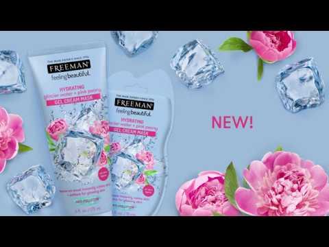 Freeman Beauty - Hydrating Glacier Water + Pink Peony Gel Cream Mask