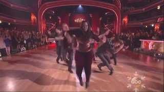 Derek Hough & Amber Riley dancing Freestyle on DWTS 11 25 13