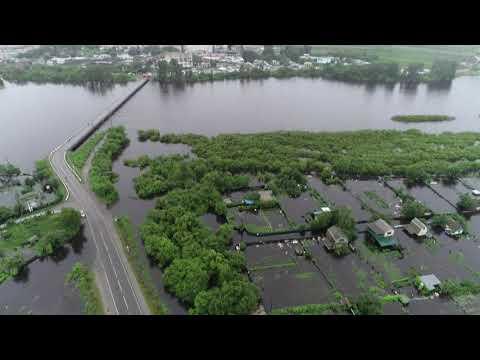 Дорога на Белогорск Амурской области уходит под воду
