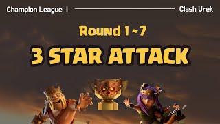 [Clan War League] Round 1-7_Clash of Clans Attack Strategy TH12_클랜전 리그 완파조합_클래시오브클랜