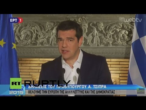 LIVE: Tsipras gives address as Greek bailout referendum results announced