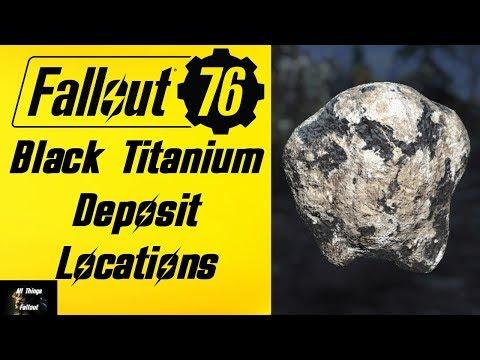 Fallout 76 Black Titanium Deposit Locations