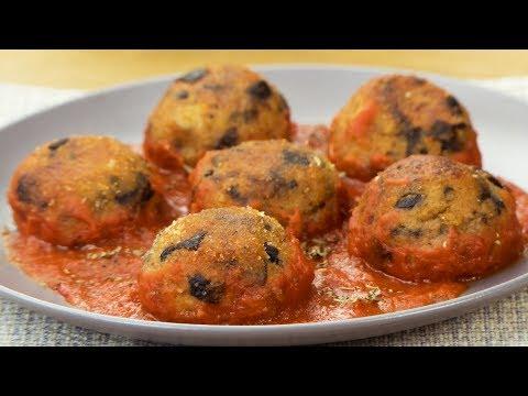 ma-recette-d'aubergines--boulettes-d'aubergines-à-la-sauce-tomate-ǀ-savoureux.tv