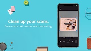 Clean up scanned documents in Adobe Scan  |  Adobe Document Cloud