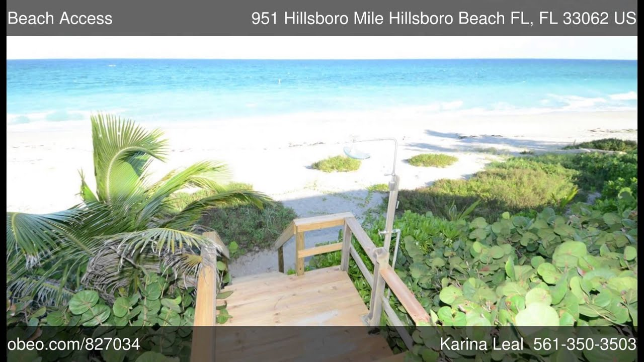 951 Hillsboro Mile Beach Fl 33062 Karina Leal Usa Realty You