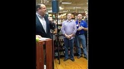 Commissioner Todd Chase @ Lucky's Market Grand Opening