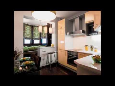 Идеи совмещения балкона с кухней. - youtube.