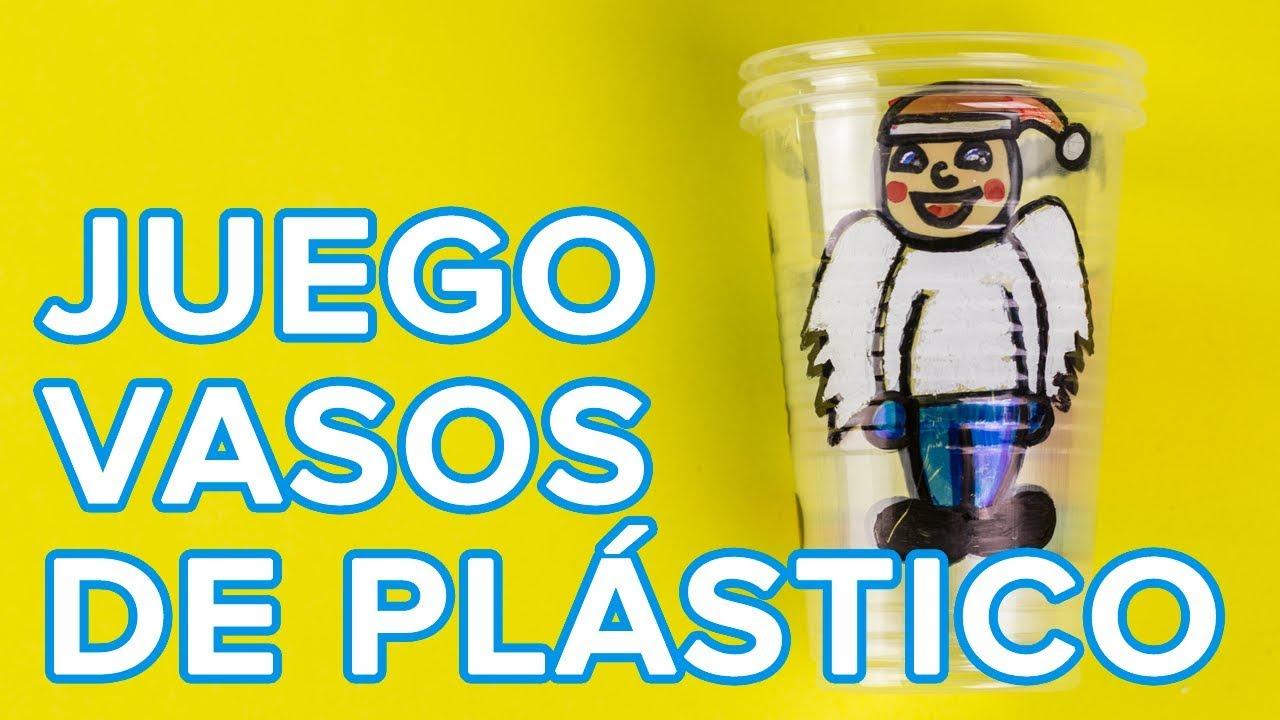 Juego Con Vasos De Plastico Para Navidad Manualidades Infantiles