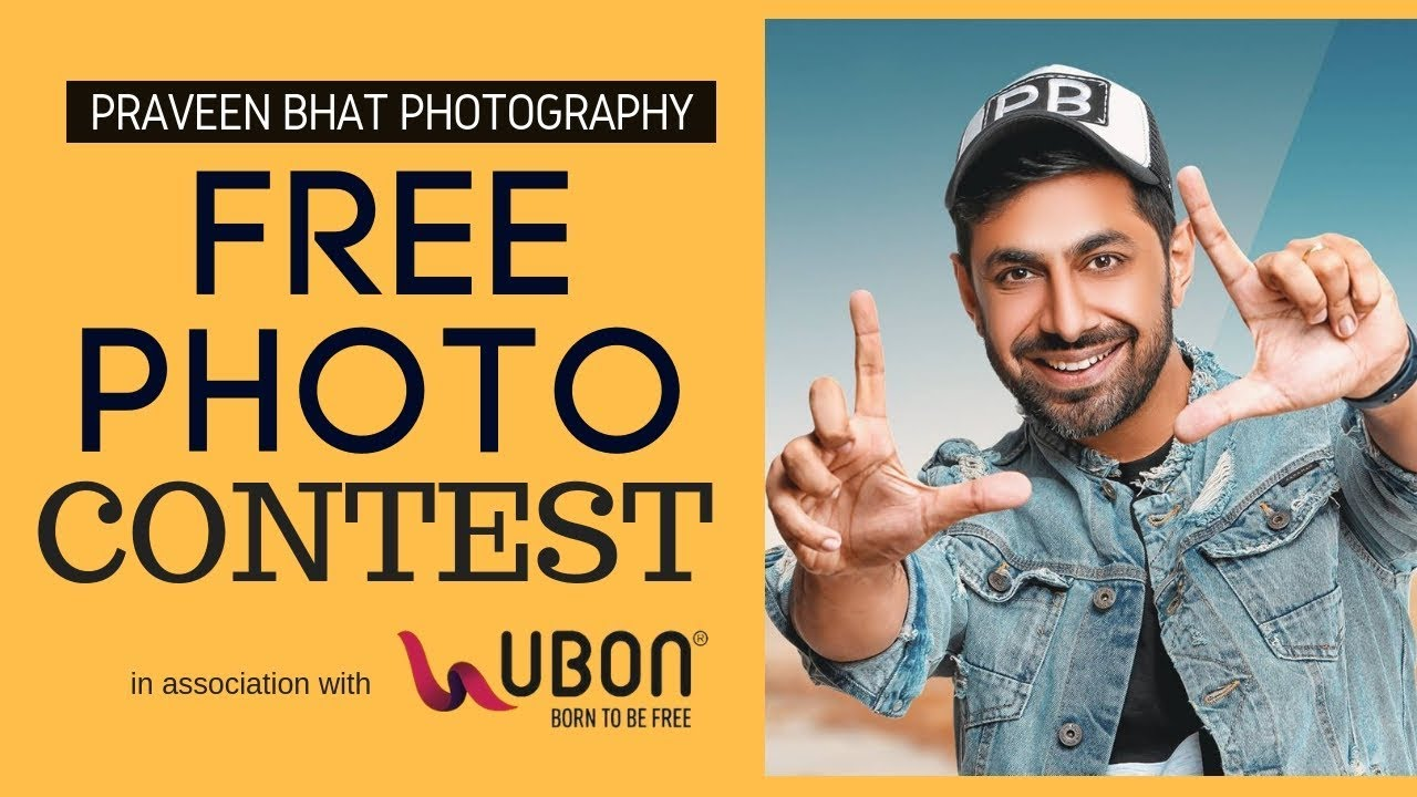 Free Photoshoot Contest | with Celebrity Photographer Praveen Bhat | Ubon India | Modeling Tips