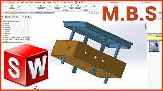 #SolidWorks проектирование корпуса в сборке метод сверху вниз