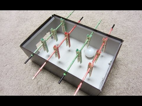 How To Make A Mini Foosball Table - Table Football Soccer