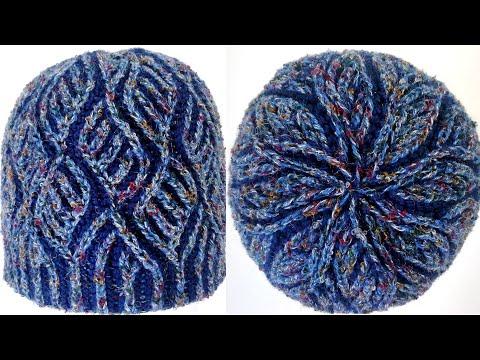 Brioche knitting *Diamonds hat* knitting patterns