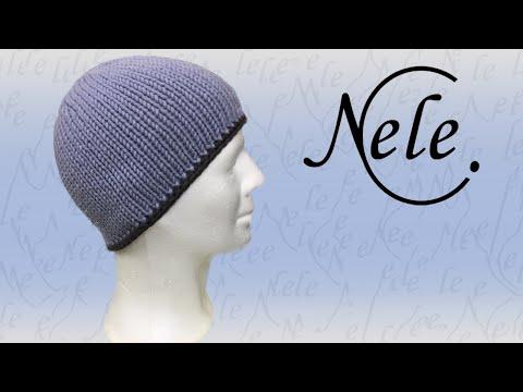 Mütze / Haube stricken: Einfach Strickmütze mit Häkelrand und Fütterung Teil 3, DIY by NeleC.