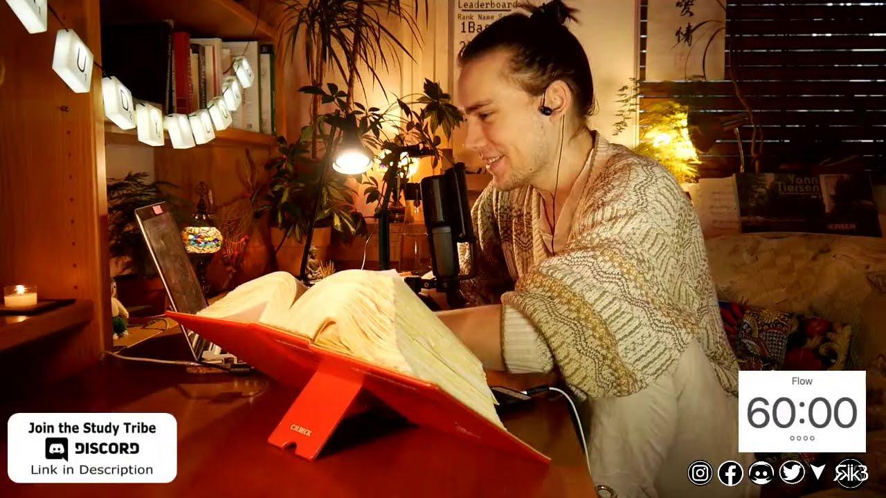study with me [falling rain]
