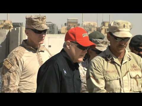 Secretary of the Navy visits Marines at Camp Leatherneck, Afghanistan
