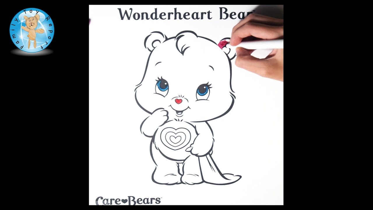 Care Bears Wonderheart Bear Coloring Page Crayola Markers Family