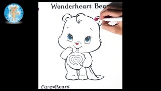 Care Bears Wonderheart Bear Coloring Page Crayola Markers - Family Toy Report