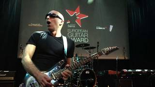 Joe Satriani performs after receiving Sena European Guitar Award 2018