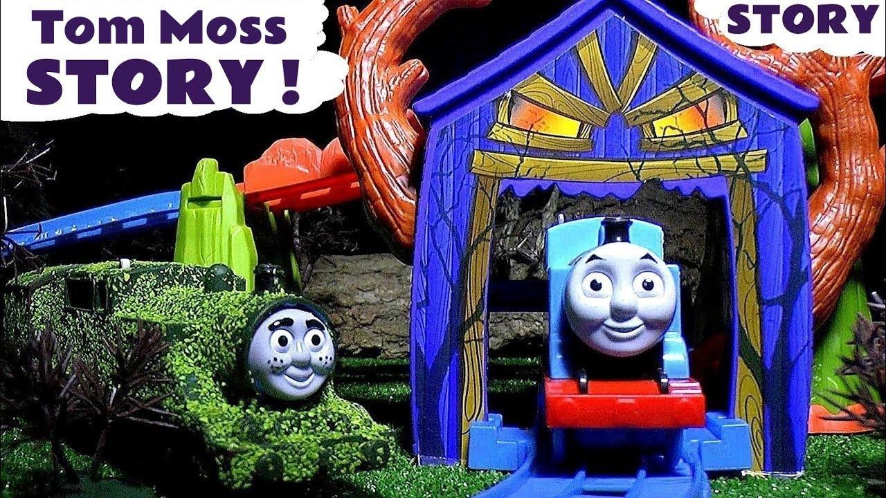 Trend Thomas and Friends Spooky Prank Tom Moss Play Doh Dinosaur Footprints Thomas Train Set YouTube