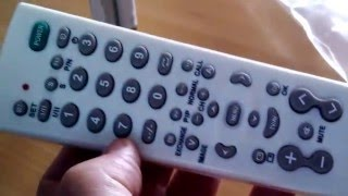 Universal remote control TV-139F  (china made) + code