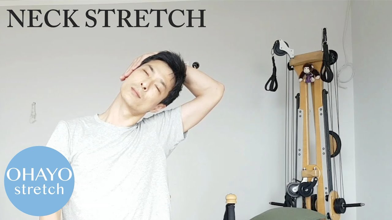 "Ohayo 1min stretching ""Neck"" on youtube"