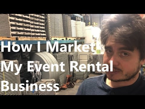 How I Market My Event Rental Business
