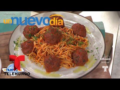 Recetas de cocina: Espaguetis con Albóndigas de Carne | Un Nuevo Día | Telemundo