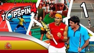 Top Spin 4 ps3 español modo carrera | Vamos Jordi | Parte 1 nuevo tenista para la armada