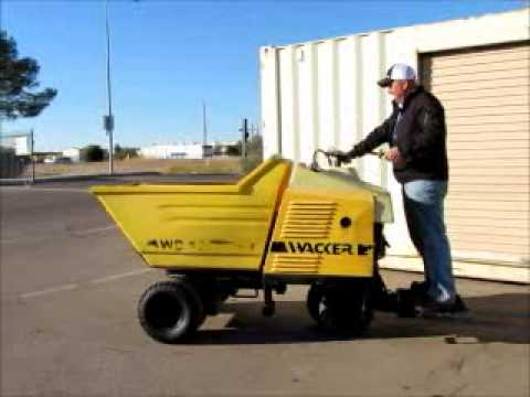 Sold! 2000 Wacker WB16 Ride-On Power Concrete Buggy 16 cu-ft bidadoo com