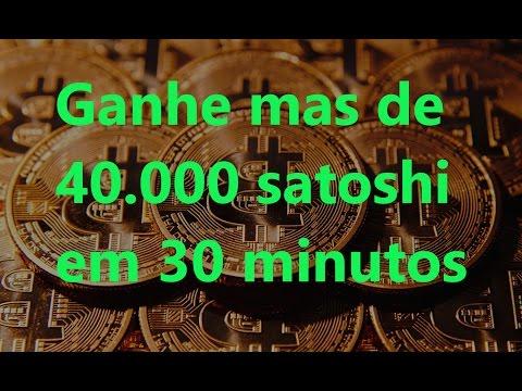 Ganhar mas de 40.000 satoshi e bitcoin em 30 minutos