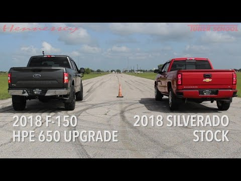 HP650 Supercharged Ford F150 Truck vs Stock Chevy Silverado Truck