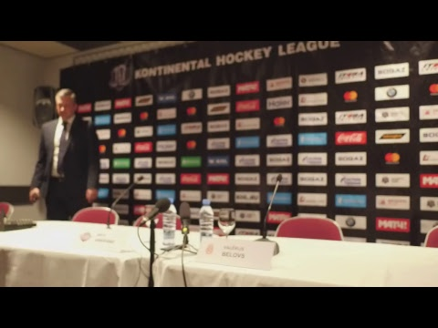 Preses konference. Dinamo Rīga - Vitjaz (11.12.2017.)