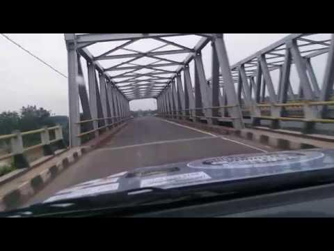 Kondisi jalan rusak sebelum Jembatan Way Seputih Gunung Sugih, Lampung