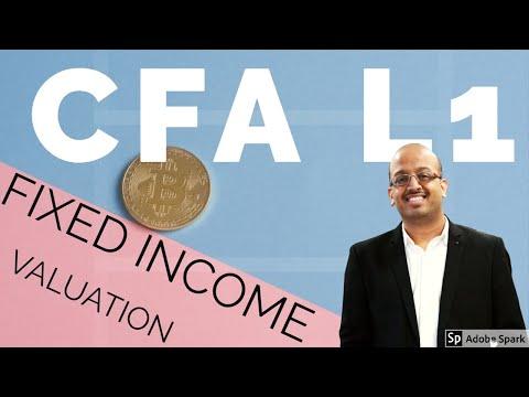 CFA Level 1 | CFA Level I | CFA L I | CFA L1 Fixed Income  on Valuation - SSEI