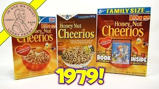 Honey Nut Cheerios 1979 Retro & New Breakfast Cereal Boxes