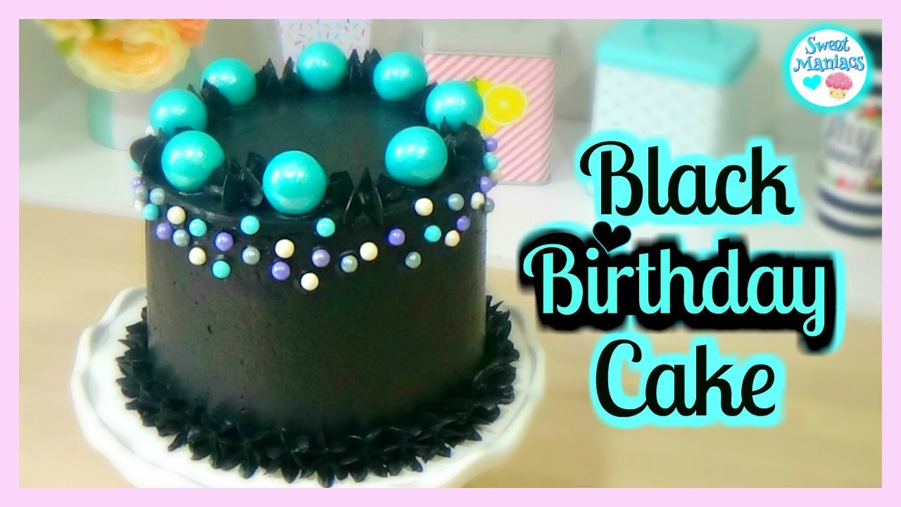 Cake With Black Buttercream Sweet Maniacs Youtube