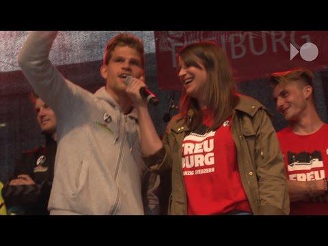 SC-Freiburg-Party: Niederlechner will den Bayern an die Lederhosen