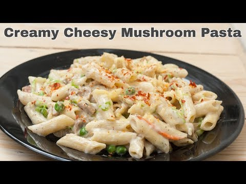 Creamy Cheesy Mushroom Pasta Recipe