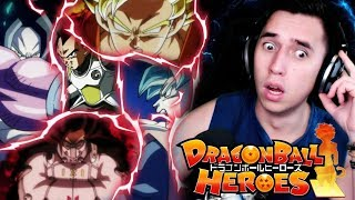 GOKU FIGHTS HIMSELF?!| Dragon ball Heroes Episode 1 Preview REACTION! & In depth BREAKDOWN!