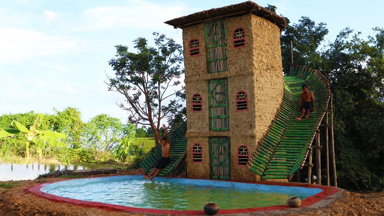สร้างบ้าน สระว่ายน้ำ จากดิน มหัศจรรย์มากๆ