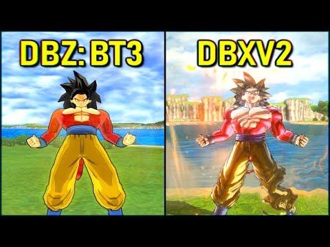 Goku - All Transformations & Attacks   DBXV2 vs Tenkaichi 3 [SSJ-SSJ2-SSJ3-SSJ4-KX20]