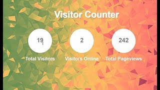 Visitor Counter Using PHP, Live Online Viewers Counter, Total Pageview Counter, Track Website Hits