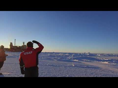 Launching a Drone Over the Ross Sea