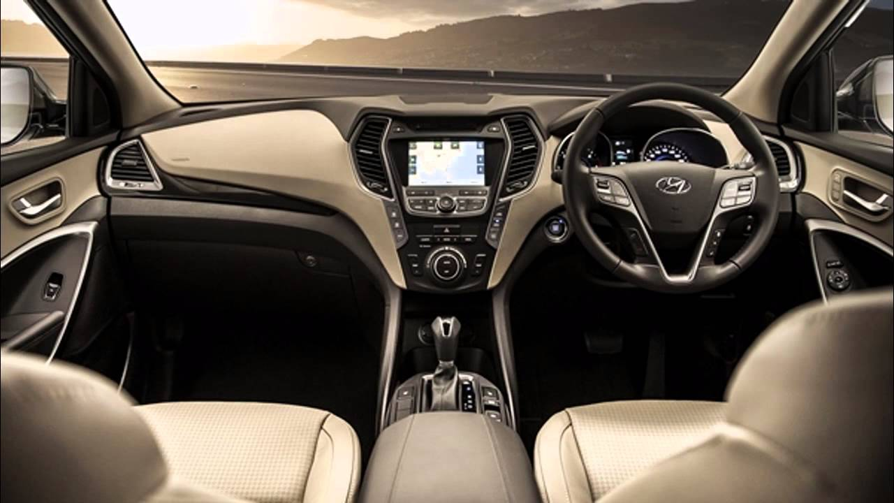 2016 Hyundai Santa Fe Interior Youtube