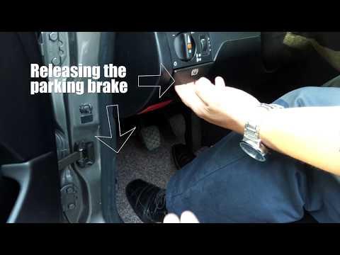 Mercedes Benz W124 300D Parking brake, RO: Frana de mână