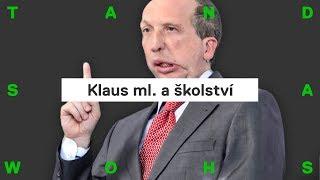 Václav Klaus ml.: kluci se učí hůř než holky, svobody ve škole je moc, chybí řád (Patreon bonus)