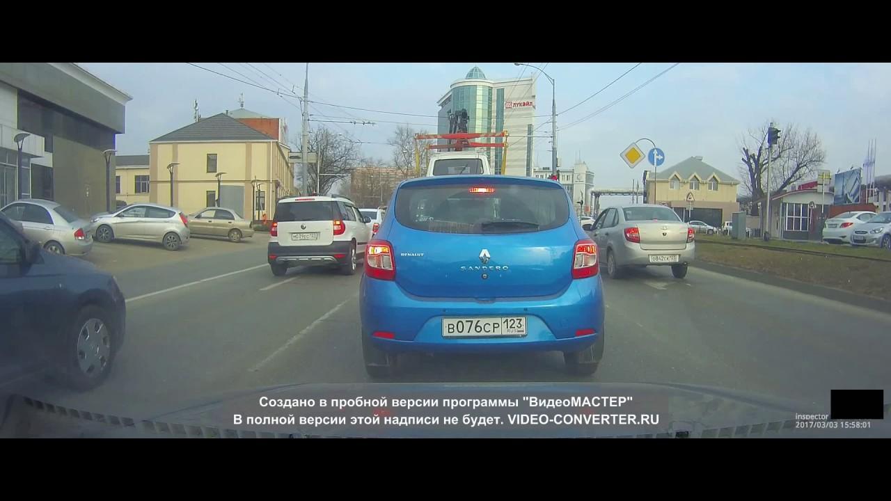 Красндар (ул. Ставропольская): эвакуатор уронил Ниву