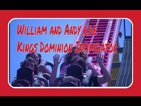 William and Andy ride Kings Dominion